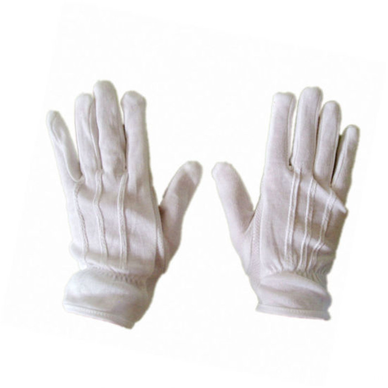 Factory Supply White Cotton Parade Gloves