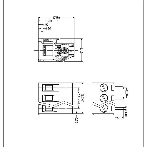 AT129R-5.0XXX-B PCB Screw Terminal Block