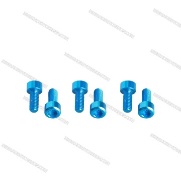 ISO7380 Customizid Anodised Aluminum Socket Alley Screws