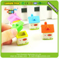 Funny sex 3D house eraser student stationery