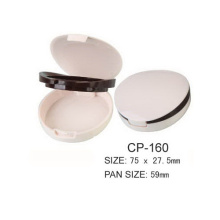 Empty Plastic Round Cosmetic Compact