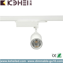 Black White LED Track Lights COB 20W 3000K