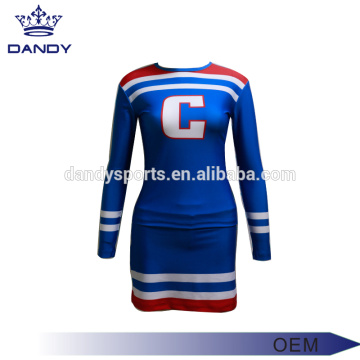 Custom Logo Blue Cheerleader kostyme