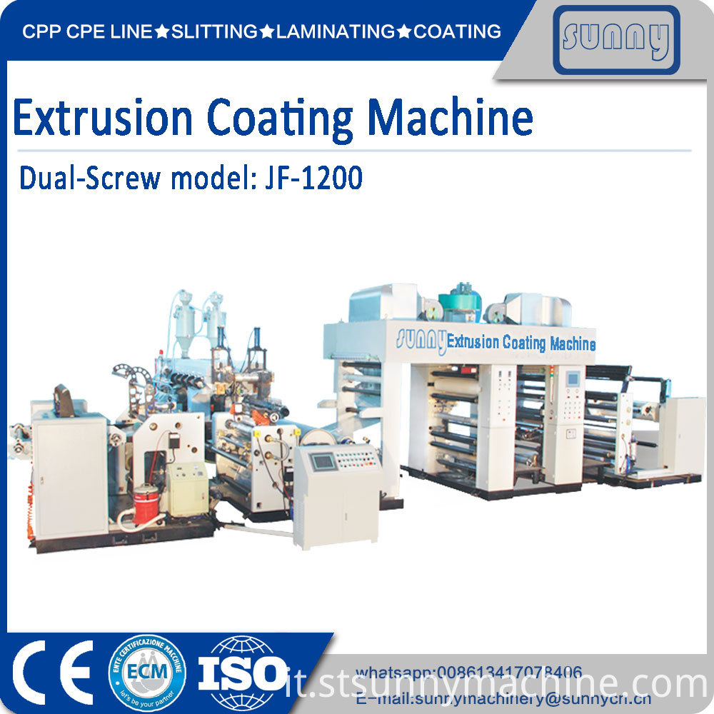 Dual Screw Extrusion Coating Machinejf1200