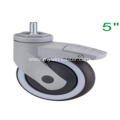 5 Inch Threaded Steam Swivel TPR PP Material With Bracket Medical Caster