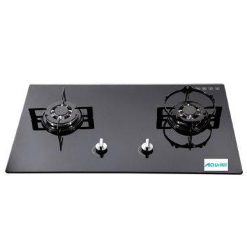 2-Burner Built-in Gas Hob Glass Top