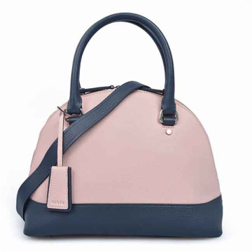 Italian Leather Handbags Trimmed Top Handle Bag