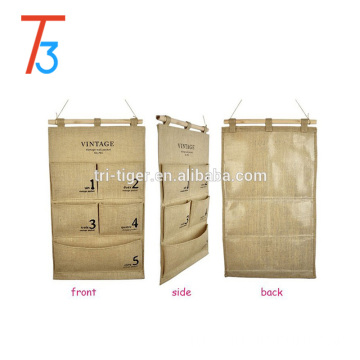 Storage Bag 5 pocket multi-layer fabric debris storage wall hanging bags