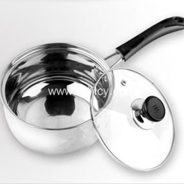 Stainless Steel Single Handle Milk Heating Cooking Pot