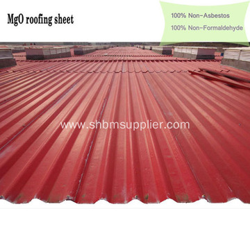 UV-blocking Anti-flame Heat-resistant MgO Roofing Sheets