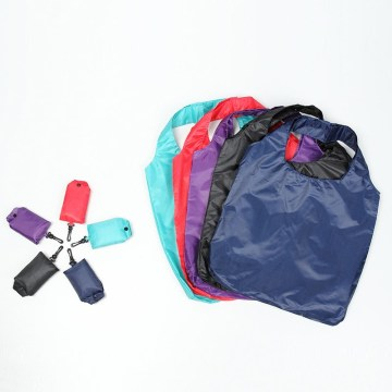 Solid color with large capacity folding shopping bag