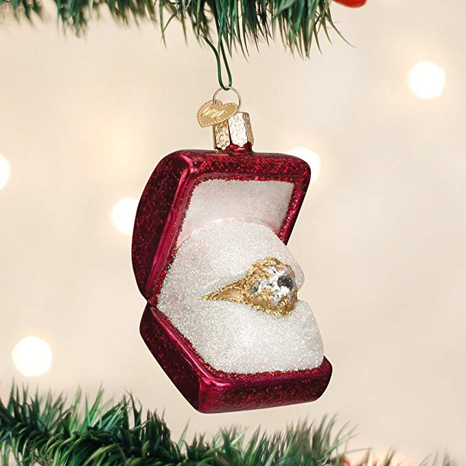 Glass Ring Christmas Ornament