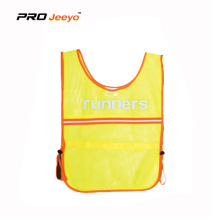 Hi-Viz Warning Hemming Running Vest For Children