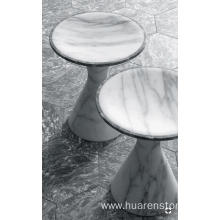 Short Lead Time for for Granite End Table White marble round table export to India Manufacturer