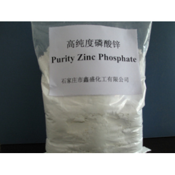 High purity zinc phosphate for water based paint