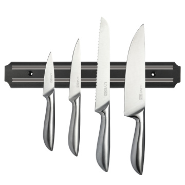 12.7 INCH BLACK MAGNETIC KNIFE BAR