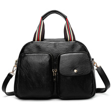 High quality women genuine real leather lady handbag