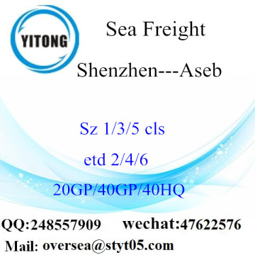 Shenzhen Port Sea Freight Shipping To Aseb