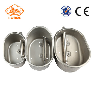 Thick Stainless Steel Automatic Livestock Water Bowl Oval