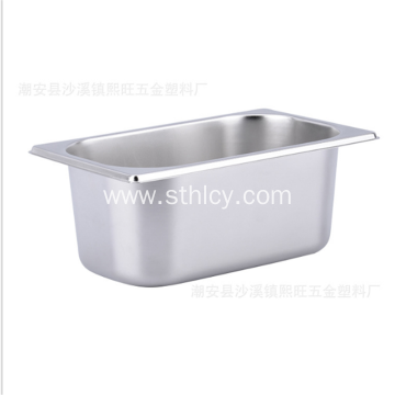 Stainless steel serving basin