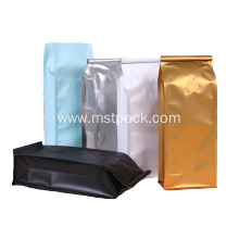 Flat Bottom Coffee Bags with Hidden Zipper