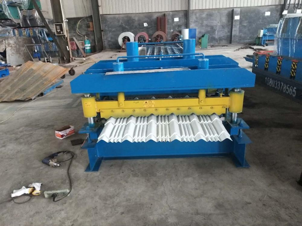 Color glazed tile roll forming