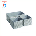 3 Piece Set accessory cardboard drawer storage box