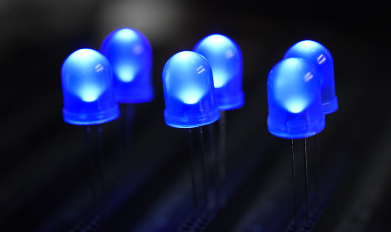 10mm blue through-hole LED
