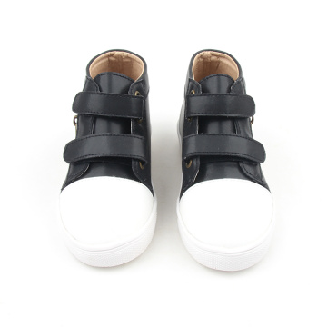 hard sole kids black shoes