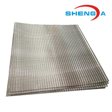 Stainless Steel Wedge Wire Rectangle Sieve Plate