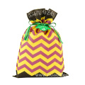 Black Purple Halloween Gift Packaging Bags Wave Pattern