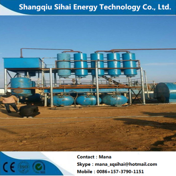 Environmental machine for waste tire oil