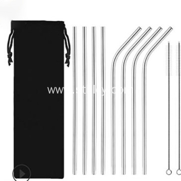 304 Stainless Steel Straws Titanium Coated Metal Straws