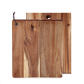 Square acacia wood cutting board