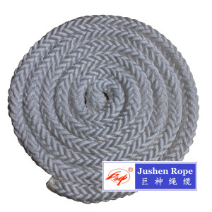 Low Cost for Polyester Rope 6mm-50mm Polyester 8-Strand Twisted Rope supply to Zambia Factories