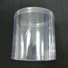 Customized sizes plastic clear cylinders tube containers with lids