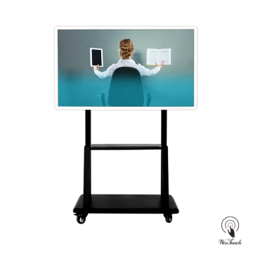 55 Inches UHD Multi-touch Display with mobile stand