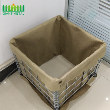 Sand filled gabion hesco blast wall