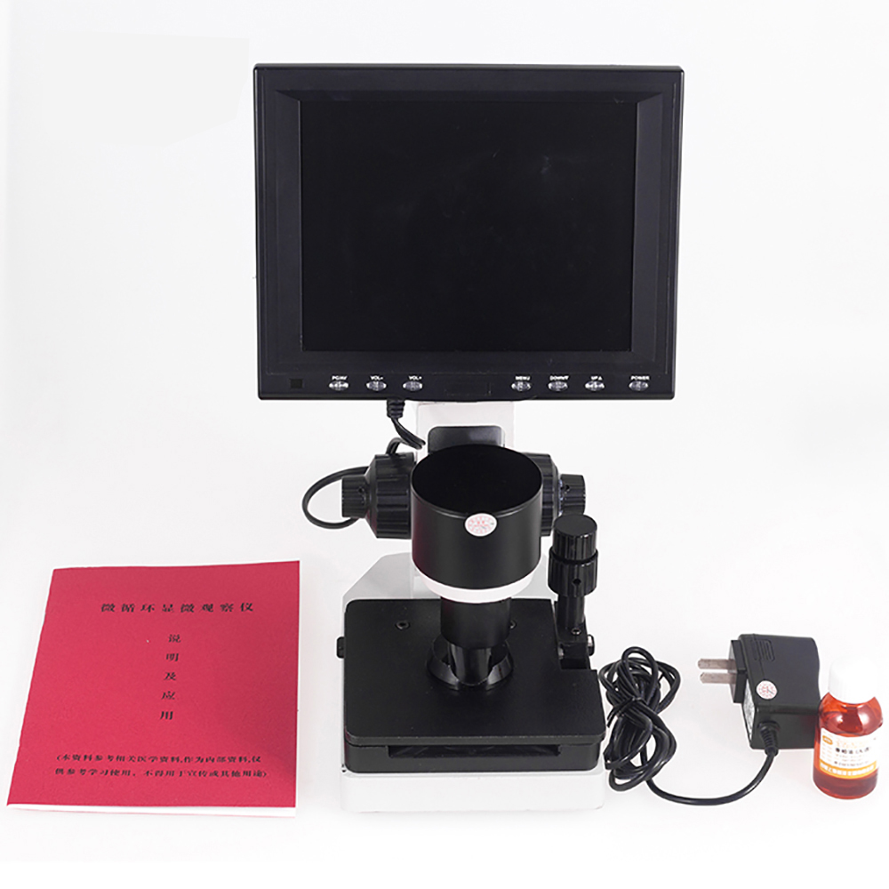 Color LCD monitor microcirculation microscope