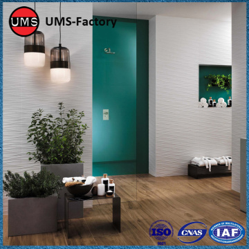 Faux wood ceramic tiles floor