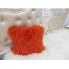 Factory making for Mongolian Wool Pillow Mongolian Lamb Fur Chair Pillow export to Cape Verde Factories