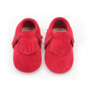 Christmas First Step Shoes Red Baby Moccasin Shoes