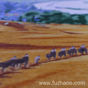Leading for Hand-Embroidered Animals Hand-embroidered desert landscape embroidery gifts export to Algeria Manufacturers
