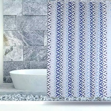 Factory For for Shower Curtain Peva Shower Curtain PEVA Blue Coral export to Guinea-Bissau Importers