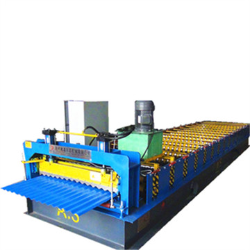 Galvanized steel corrugated roof panel roll forming machine