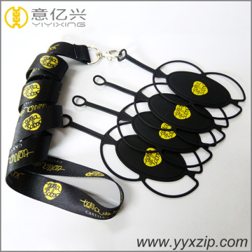 detachable cell phone holder jacquard lanyard with case