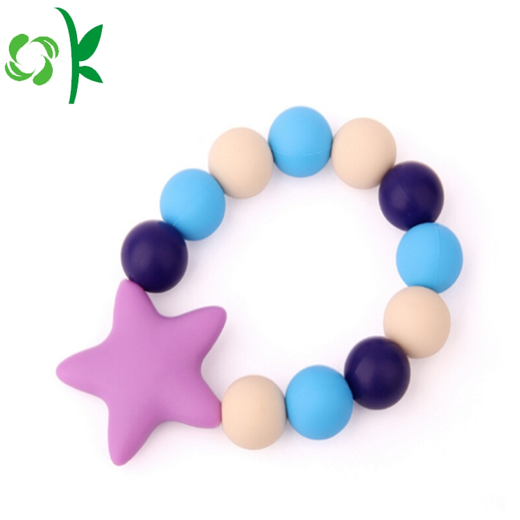 Purple Star Silicone Bead Bands