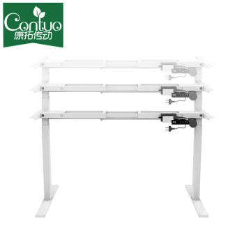 Electric Stand Up Desk Frame, Height Adjustable Standing Base Single Motor DIY Workstation With Memory Controller