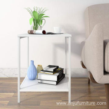 2-Tier Nightstand,Side Table End  for Bedroom Living Room, Modern Collection