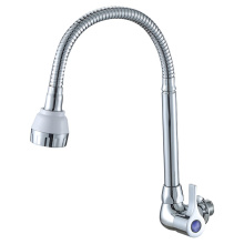 Stainless Steel Flexible Long Neck Kitchen Faucet